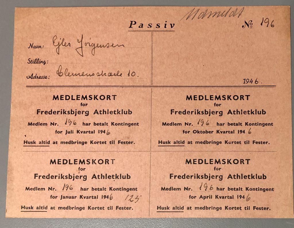 Træningskort i 1940erne