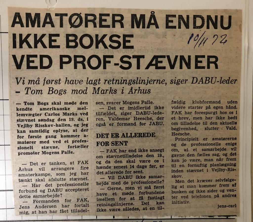 Artikler fra 1970erne om FAK