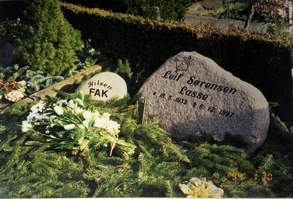 Leif Sørensens begravelse.